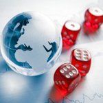 ISO 9001 2015 Revision, globe and dice