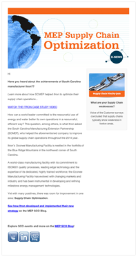 March 2015 E-Newsletter MEPSupply Chain