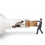 How supplier development differs from supply chain optimization, man in bottle