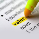 Supply chain strategies, highlighter on value word