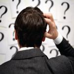 Understanding customers, man scratching head